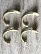 Crochets porte embrasse en métal beige doré  10 Poitiers (86)