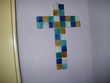 croix en verre style vitrail