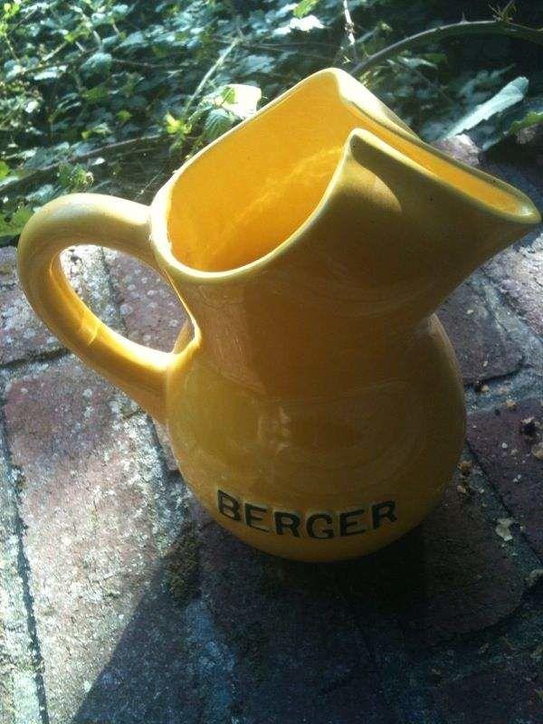 Cruche carafe céramique collector Berger pastis anisette