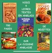 CUISINE - livres en anglais - RECETTES 25 Lille (59)