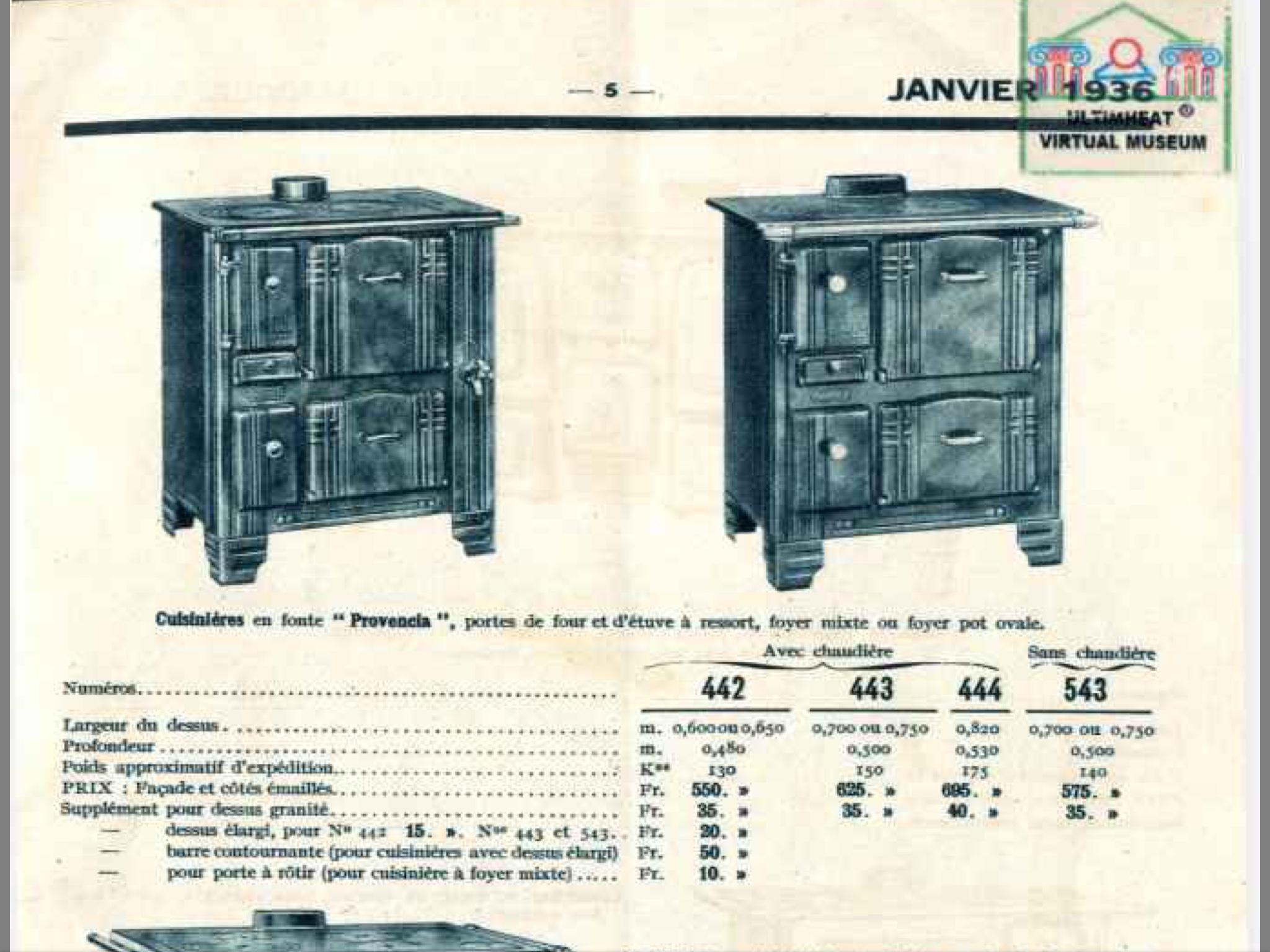 cuisinière Godin 1936 CD et vinyles
