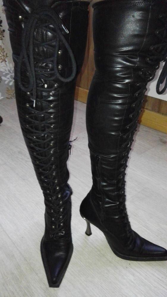 Cuissardes noire lacets Marque New Rock modèle Malicia 80 Martigues (13)