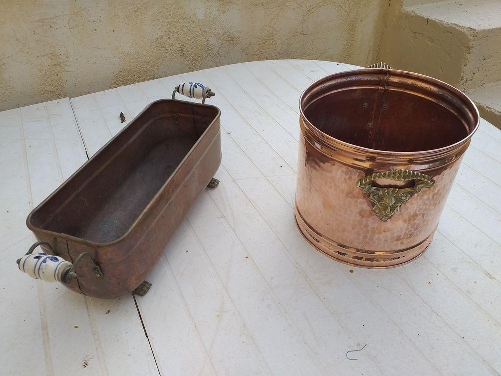 Cuivre cache pot , jardinière  40 Baccarat (54)