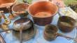 LOT DE CUIVRE - série casseroles - poêlons - chandeliers ...