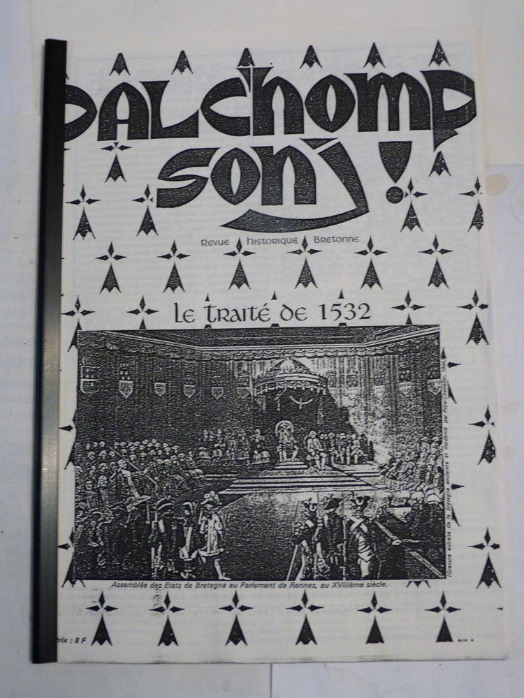 DALCHOMP SONJ N° 1 REVUE HISTORIQUE BRETONNE 10 Brest (29)