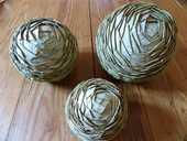 Déco Noël : 3 anciennes boules en laurier 15 Strasbourg (67)