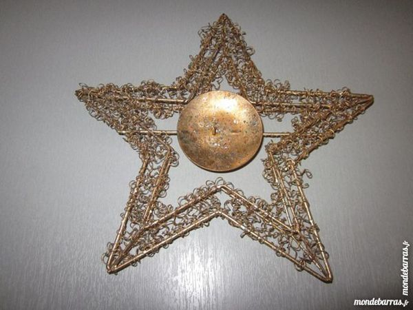 Deco de noel porte bougie en forme d'etoile d'orée 3 Lille (59)