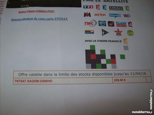 décodeur TNT SAT SAGEM  DS86 HD 60 Le Chambon-Feugerolles (42)