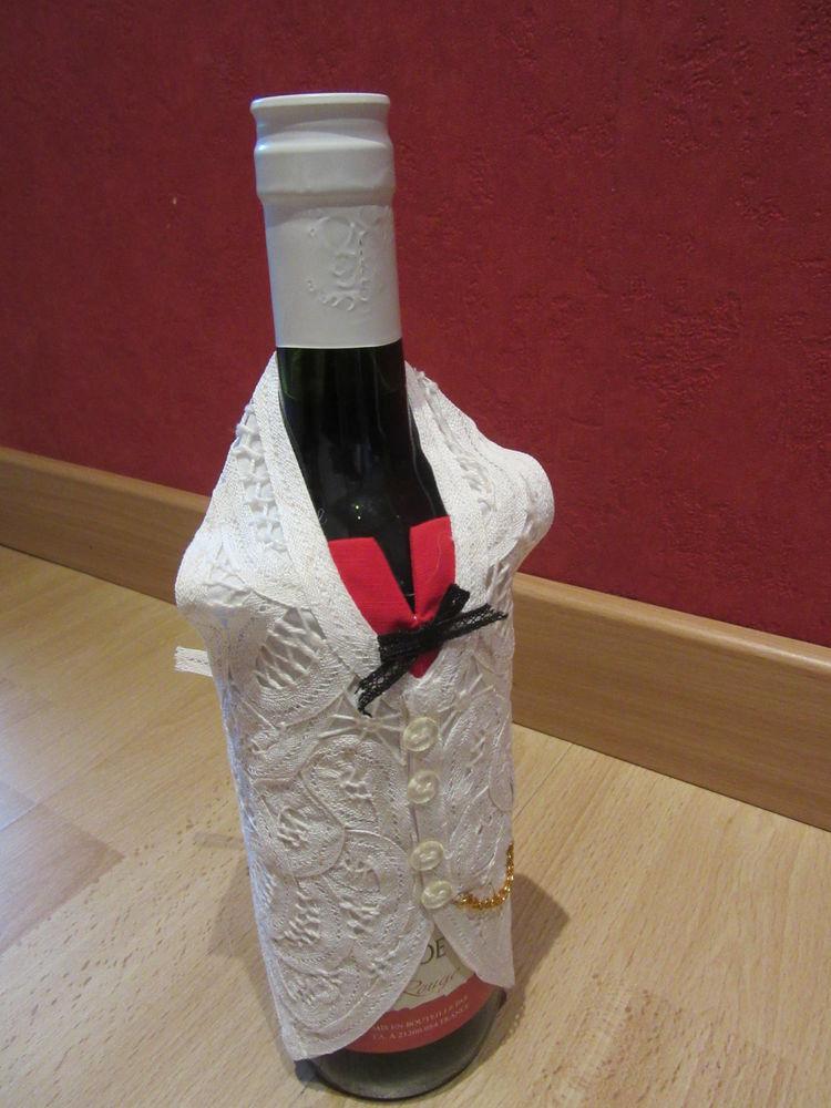 Décoration bouteille - en dentelles de Bruges - Neuf  40 Livry-Gargan (93)