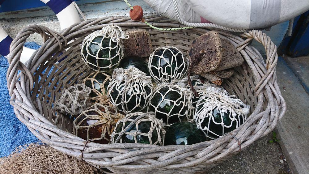 Lot décoration marine boules de chalut en verre 0 Plobannalec-Lesconil (29)