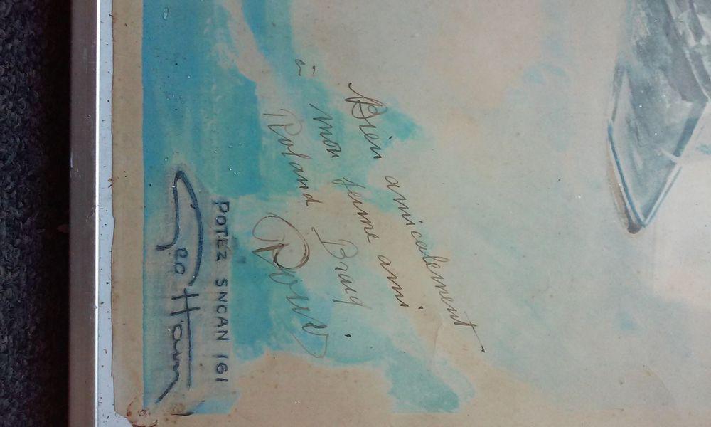 GEO HAM dédicacé  POTEZ SCAN 161  à ROLAND BRACQ 0 Albert (80)