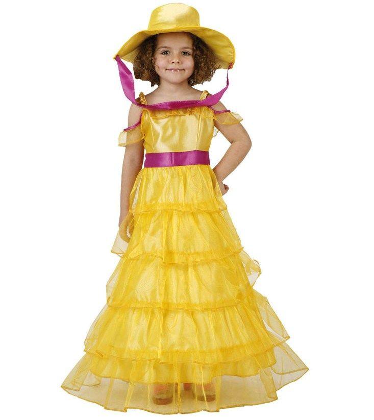 Deguisement costume Dame du Sud jaune 3-4 ans 17 Fontenay-sous-Bois (94)