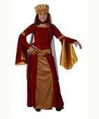 Deguisement costume Dame médiévale rouge 5-6 ans 18 Fontenay-sous-Bois (94)