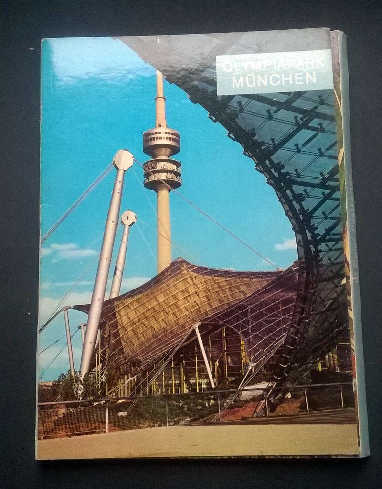Dépliant cartes postale Parc Olympique Munich 4 Roncq (59)