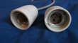 Deux ancienne douilles en porcelaine E27 Bricolage