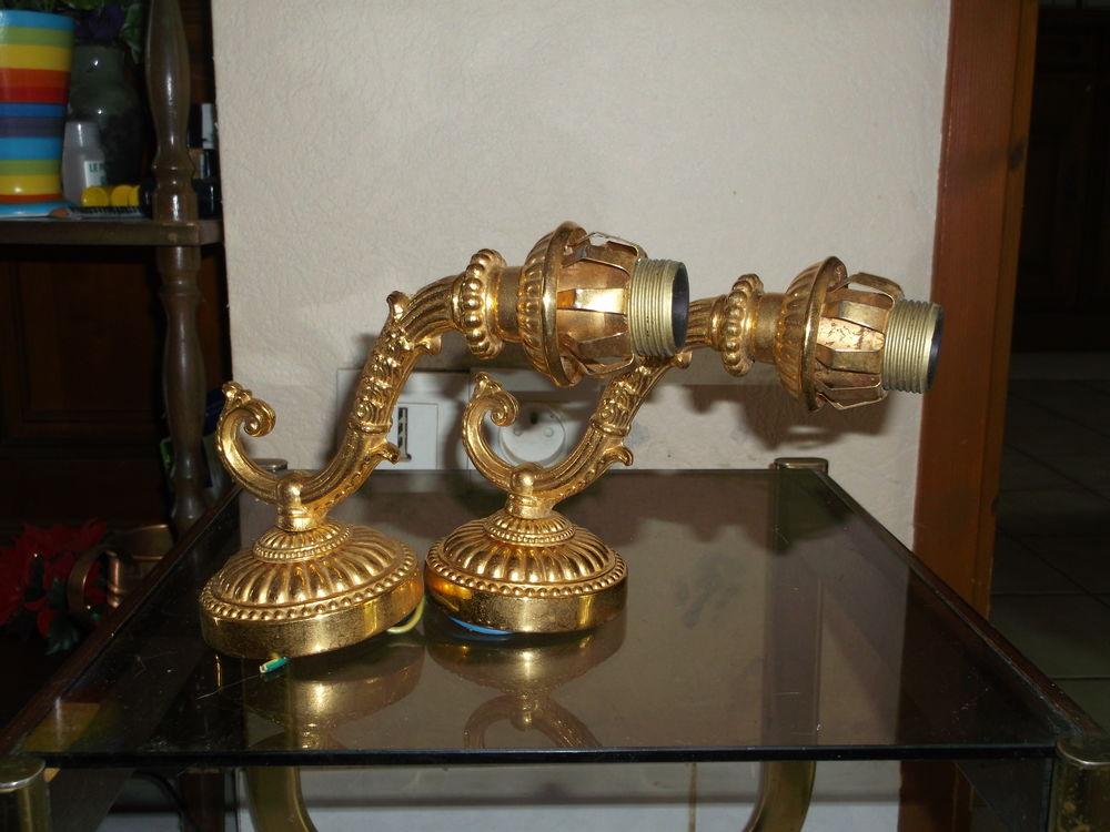 Deux appliques dorées à l'or fin. 50 Corbeil-Essonnes (91)