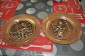 Lot de deux assiettes en cuivre 20 Perreuil (71)
