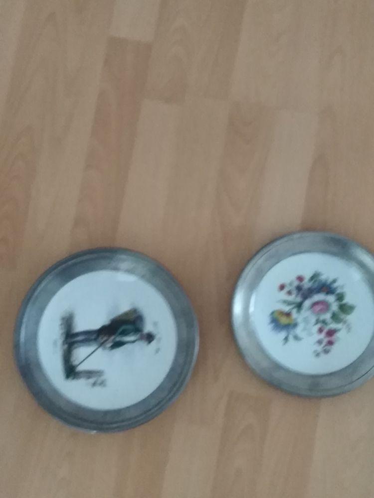 deux assiettes en étain 0 Annœullin (59)