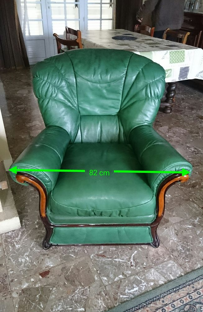 Deux beaux fauteuils en cuir 220 Athis-Mons (91)