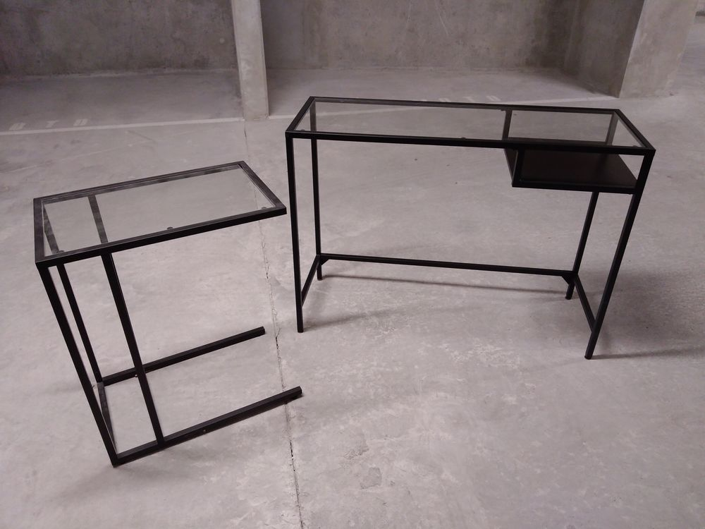 deux bureaux métal et verre  50 Marseille 8 (13)