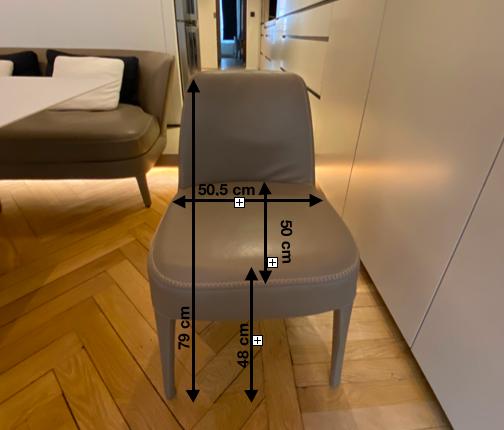 Lot de deux chaises en cuir FEBO modèle Maxalto 1100 Lyon 6 (69)