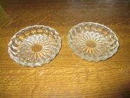 Deux coupelles ou soucoupe plates en verre 6 Mérignies (59)