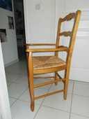 Deux fauteuils bois avec assise en paille 150 Nîmes (30)