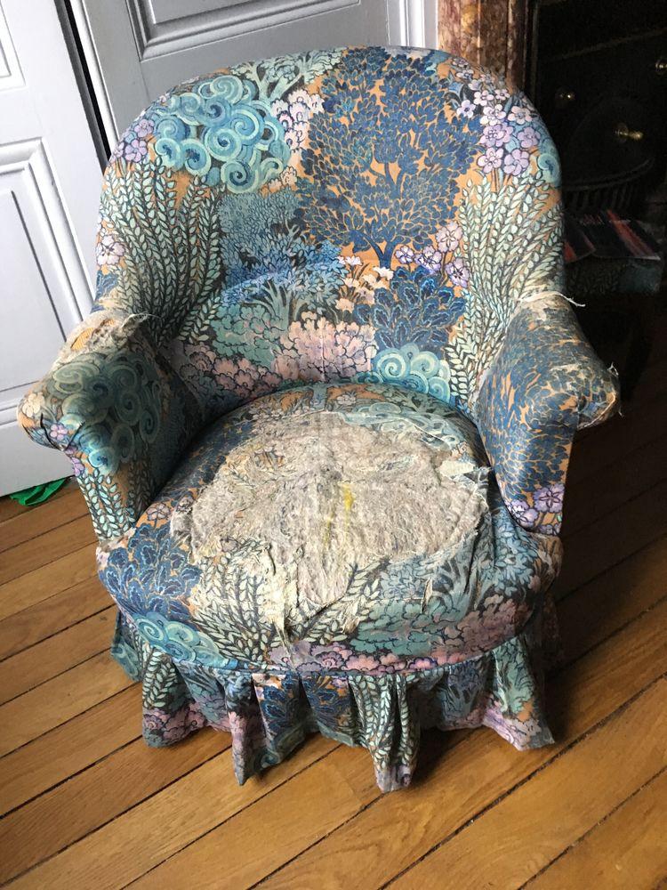 Deux fauteuils crapauds pour rénovation 0 Lyon 2 (69)