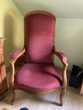 deux fauteuils Voltaire refais à neuf en velours