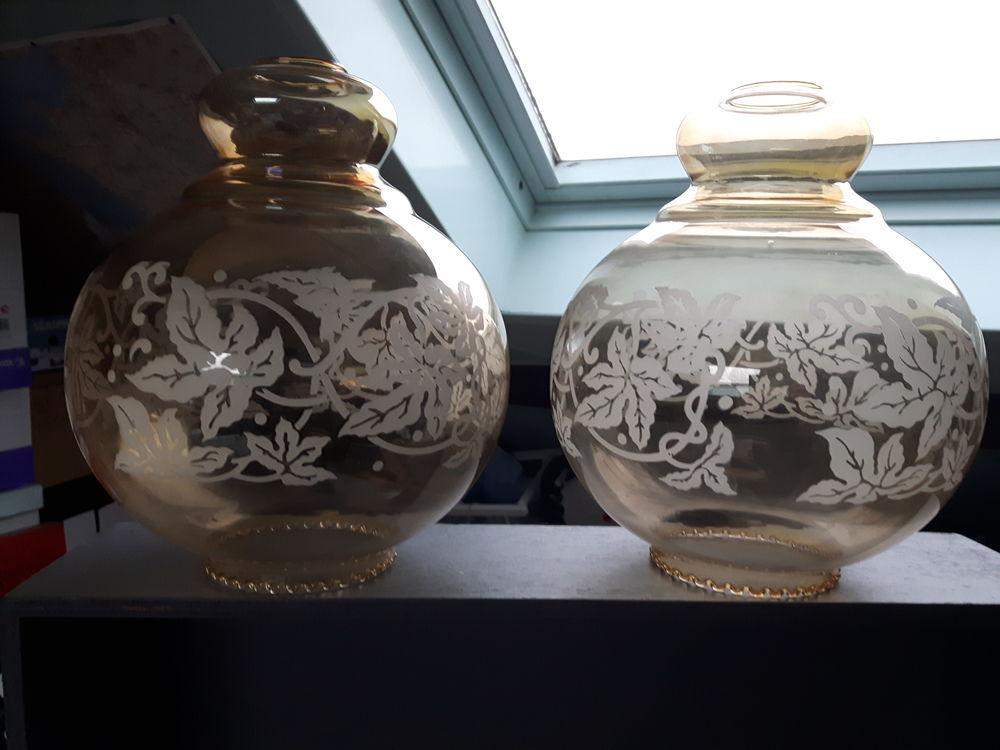 Deux globes  pour suspension . 20 Wattrelos (59)