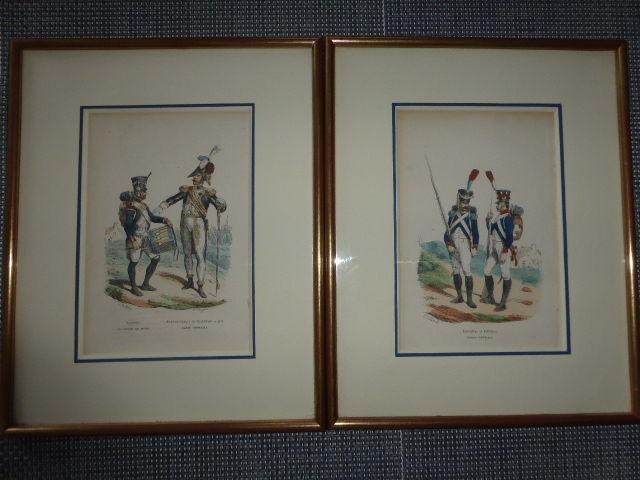 Lot de deux lithographies Hyppolite Bellangé garde impérial 25 Rueil-Malmaison (92)
