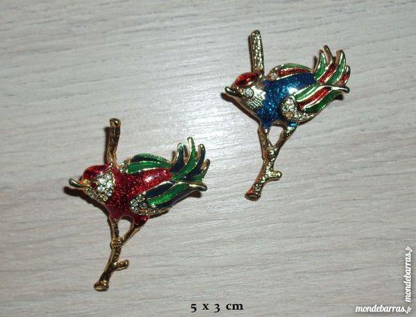 Deux magnifiques broches  «OISEAUX» vintage 35 Antibes (06)