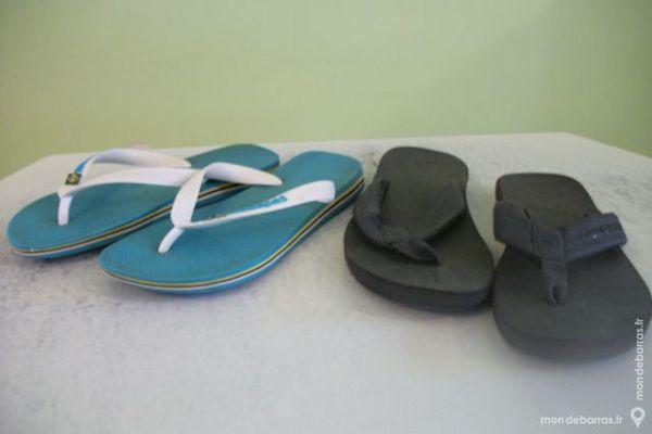 deux paires de tongues Chaussures