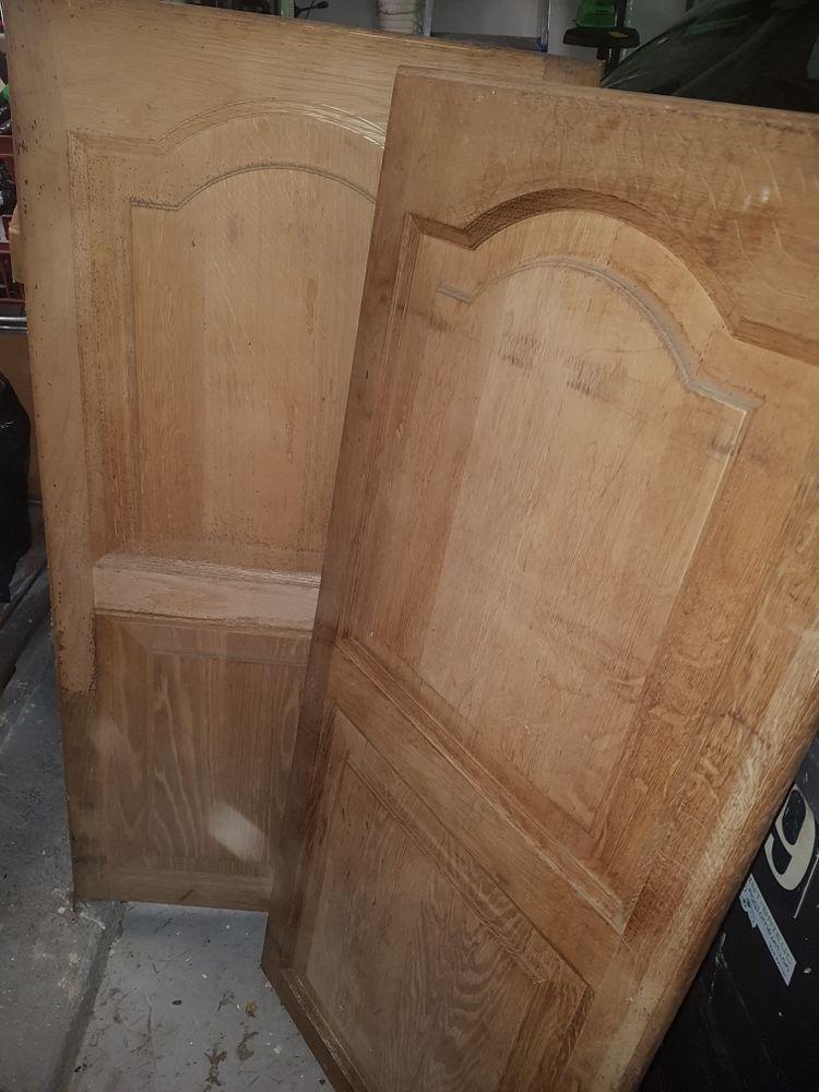 Deux portes en bois chêne très bonne état 80 Plérin (22)