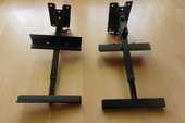 deux supports enceintes en fer avec bras amovible et solide  25 Arradon (56)