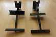 deux supports enceintes en fer avec bras amovible et solide Audio et hifi