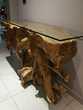 Deux Tables salon teck avec plateau verre Issoire (63)