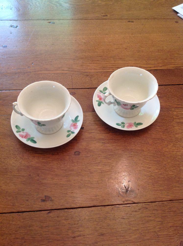 Deux tasses en porcelaine Louis Philippe XIXème 40 Lisieux (14)