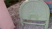 deux tetes de lit d'1 personne en rotin  vert très pale 35 Les Issambres (83)