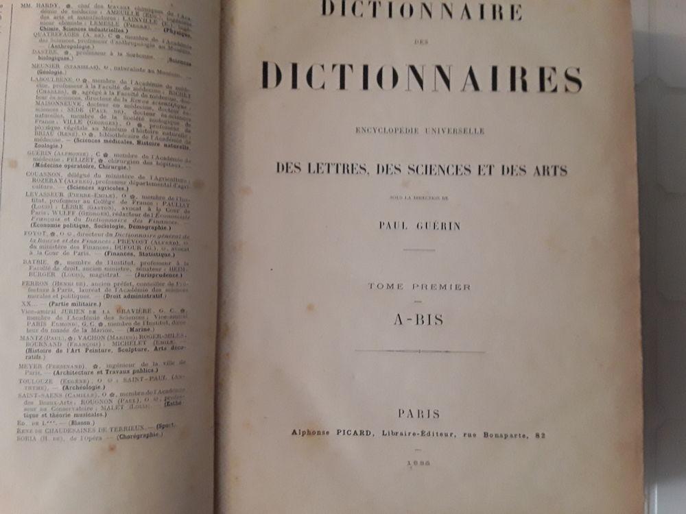 Dictionnaire des dictionnaires Paul Guérin,  1886, 6 tomes , 200 Toulouse (31)