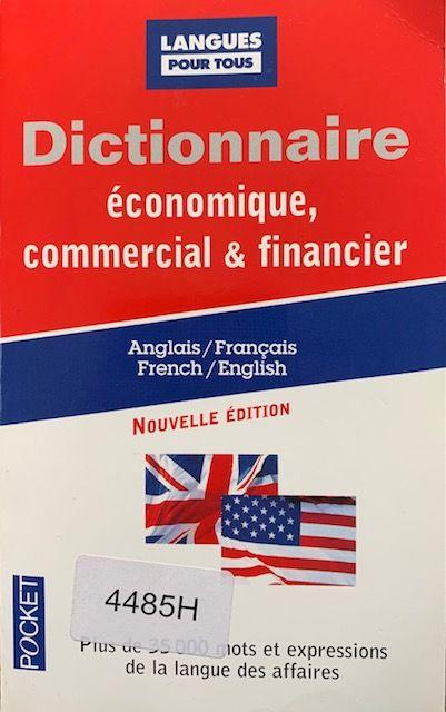 Dictionnaire économique commercial et financier Français/Ang 8 Longlaville (54)