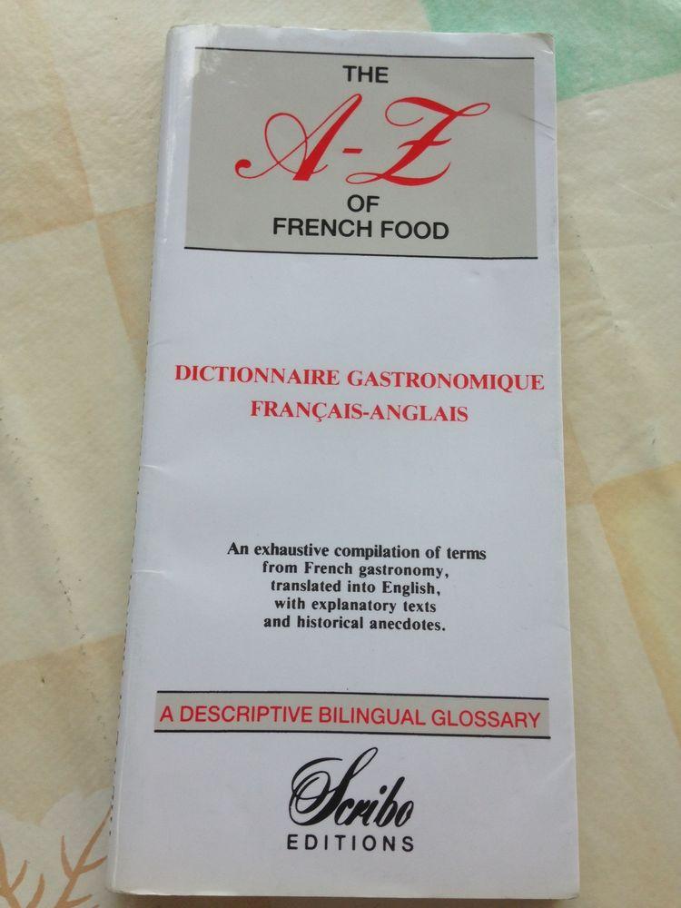 Dictionnaire gastronomique de poche francais-anglais 12 Strasbourg (67)