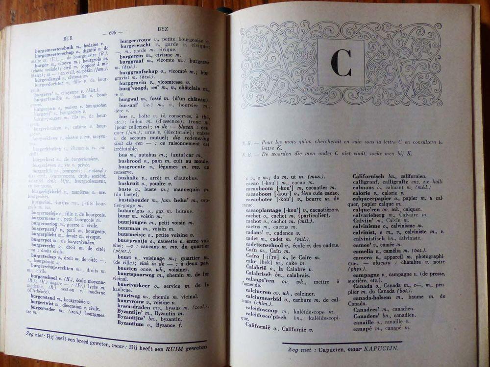 Dictionnaire Grootaers Français-Néerlandais 15 Strasbourg (67)