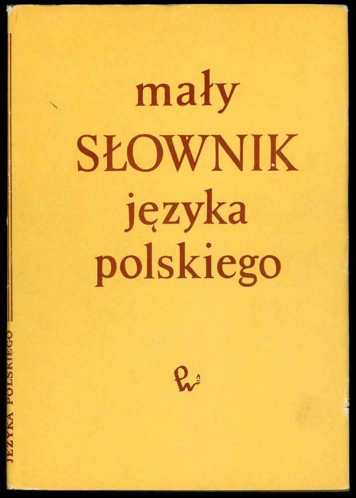 Dictionnaire de la langue polonaise (en polonais), Livres et BD