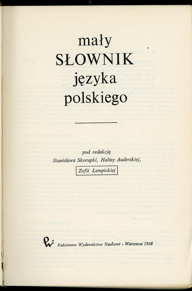 Dictionnaire de la langue polonaise  8 Saint-Laurent-de-Mure (69)