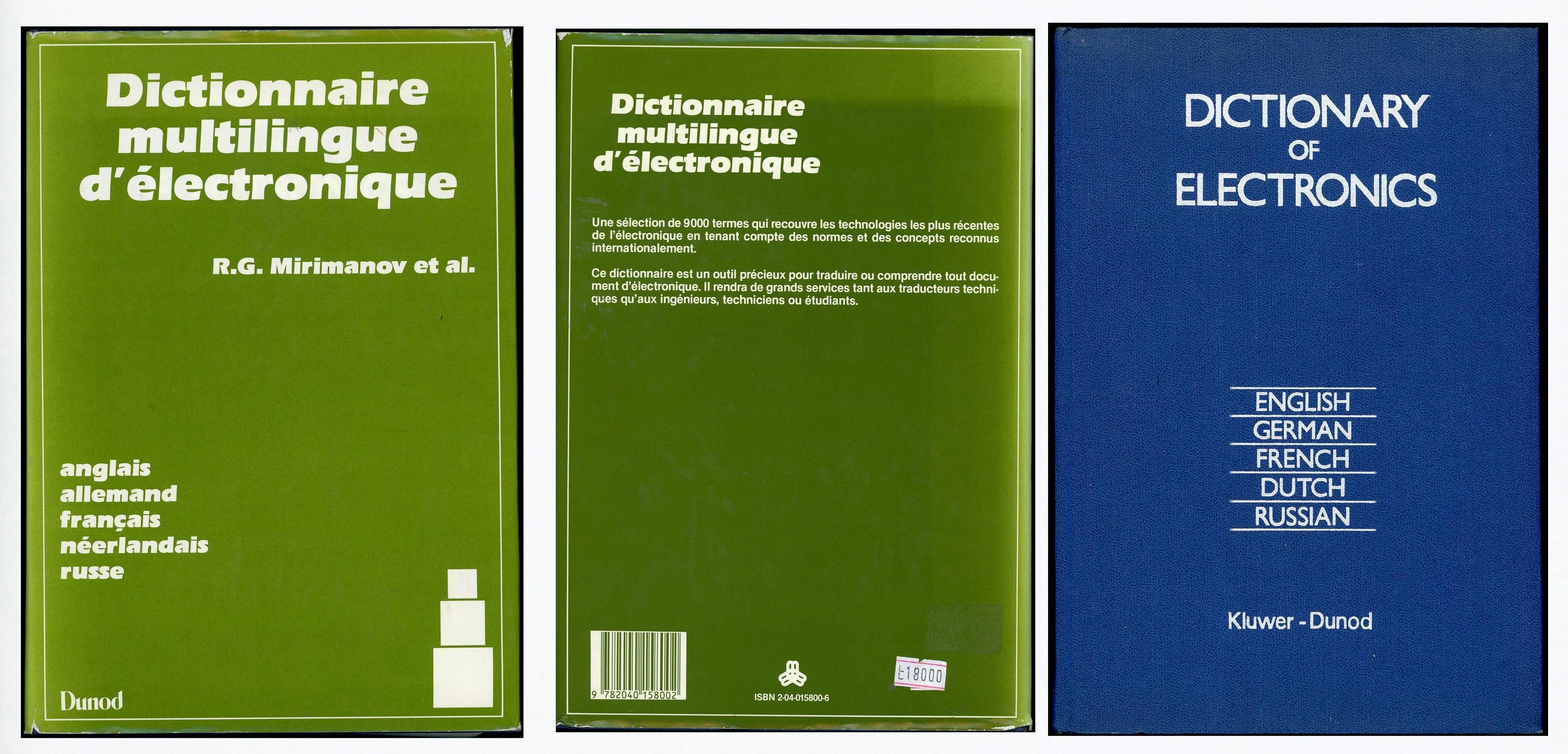 Dictionnaire multilingue d'électronique (5 langues)  25 Saint-Laurent-de-Mure (69)