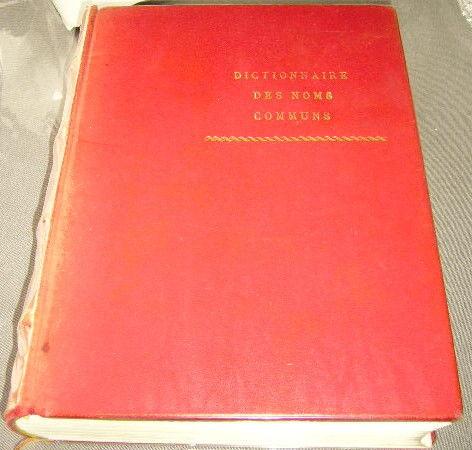 Dictionnaire des noms communs Larousse livre cuir 29 Versailles (78)