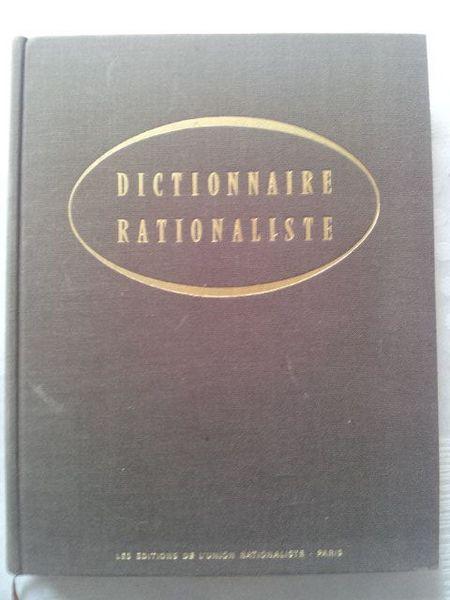 Dictionnaire Rationaliste. 1° édition 1964 Livres et BD