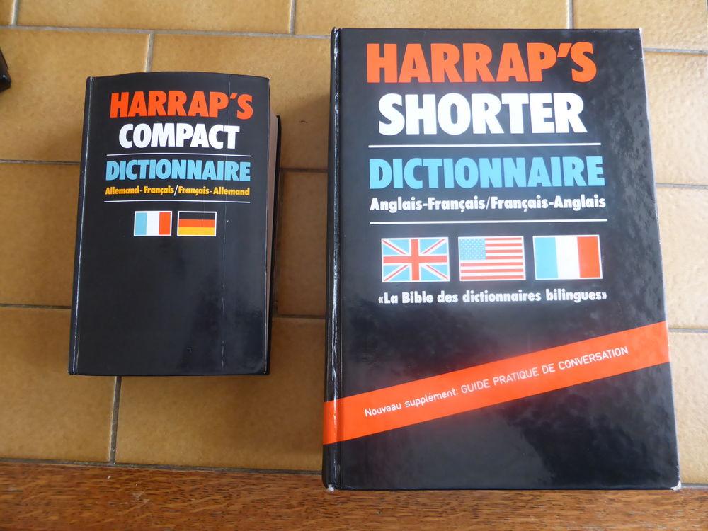 2  dictionnaires HARRAP'S  ANGLAIS-ALLEMAND/FRANCAIS 10 Rouvroy (62)