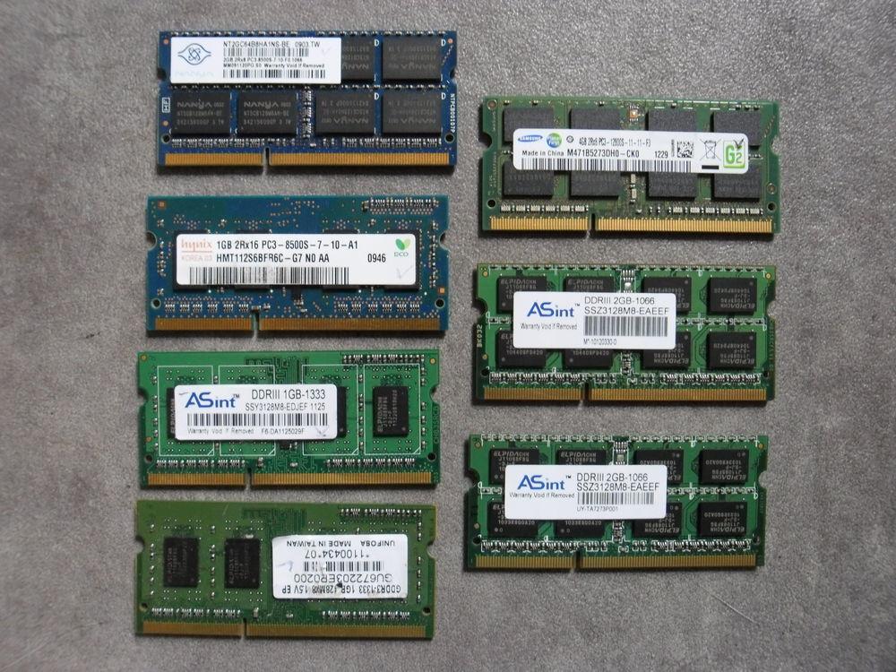 Ram So-dimm DDR3 / 1 à 4Go 5 Lyon 9 (69)